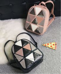 Королевский рюкзак стильный кожзам