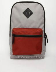 Рюкзак Asos Backpack новый серый красный