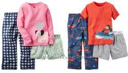 Пижама тройка 3 в 1 футболка штаны шорты реглан картерс Carter&acutes 3T и
