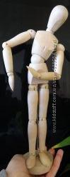 Гестальта шарнирный деревянный манекен человека фигурка для рисования 33 см