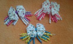 Чудові заколки бантіки для дівчаток із репсових лент