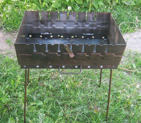 Раскладной мангал чемодан на 8, 10, 12 шампуров 2мм