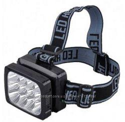 Налобный аккумуляторный фонарик на 12 светодиодов