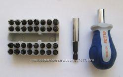 Профессиональная отвертка  32 насадки  с  битодержателем, Glede-20334