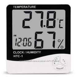 Цифровой термометр гигрометр Htc-1 с выносным датчиком температуры