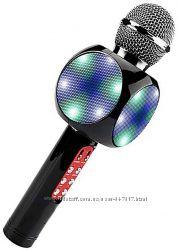 Беспроводной микрофон караоке с динамиком и цветомузыкой Ws-1816