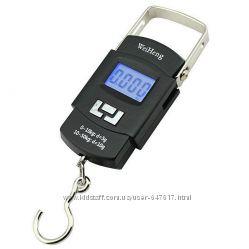 Весы электронные  безмен кантер до 50кг 5г с батарейками в комплекте