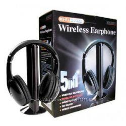 Беспроводные наушники 5 в 1  FM радио Wireless