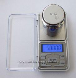 Высокоточные ювелирные весы до 500 гр. шаг 0, 01г