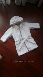 Махровый халат Mothercare банный, с капюшоном, 0-3 года