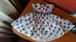 Нарядное пышное платье в цветы Mothercare, 18-24 мес, 92 см, 2 года, 1, 5 г