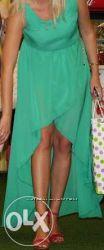 Женское длинное зеленое платье M-L, размер 38, 40, 42