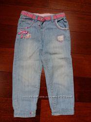 Легкие летние джинсы брюки штаны для девочки Chicco Next  92 см, 2 года