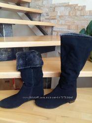 Женские зимние сапоги черные замшевые Escrok, размер 40, размер 41