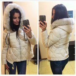Крутая зимняя курточка на холлофайбере. Красивые оттенки.