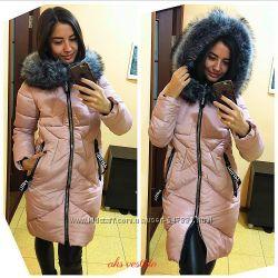 зимняя куртка с мехом на капюшоне, Китай