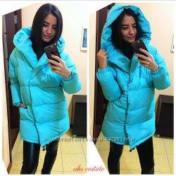 Зимняя теплая  курточка, очень красивый крой-зефирка,