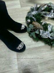 Ботинки зимние с камнями Шик