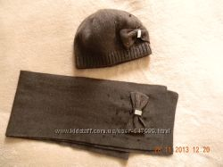 Шикарный комплект шапочка  и шарфик