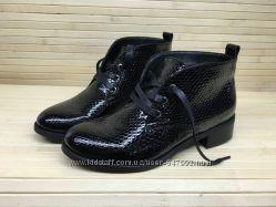 Стильные ботинки из натуральной кожи, лакированной кожи и замши 5 видов