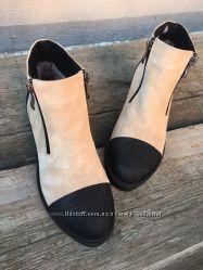 Зимние ботиночки из натуральной замши 3 цвета