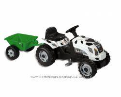 Smoby Детский трактор педальный с прицепом белый XL Claas 710113 веломобиль