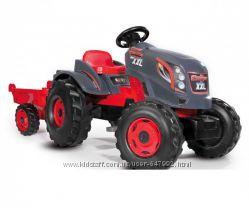 Smoby Детский трактор педальный с прицепом красный XXL 710200 Red