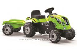 Smoby Детский трактор педальный с прицепом Фермер зеленый веломобиль Farmer