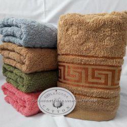 Махровые лицевые и банные полотенца толстые,  Турция