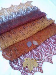 Ажурный палантин, шарф ручной работы в наличии