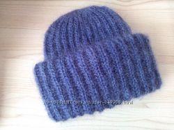 Зимняя шапка с двойным отворотом под заказ