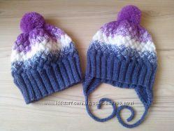 Вязаная шапка для девочек и  мальчиков под заказ
