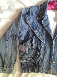 Крутая винтажная джинсовая куртка, фасон оверсайз
