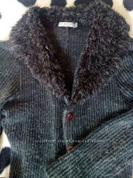 Вязанный кардиган плащ пальто