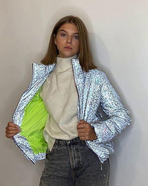 Куртка светоотражающая из рефлективной ткани Паутинка