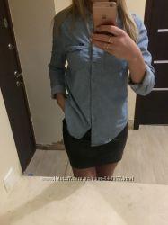 Фирменная джинсовая рубашка pull bear, сост новой