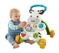 Интерактивные ходунки Fisher-Price Learn With Me Zebra