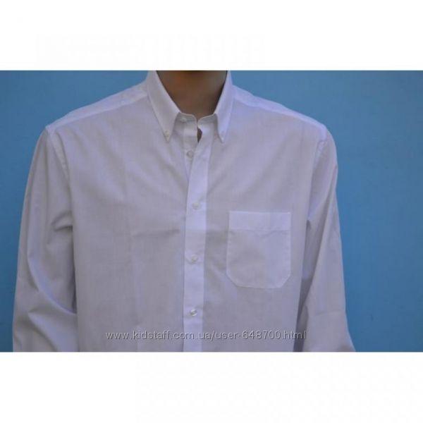 Белая классическая рубашка с длинным рукавом распродажа