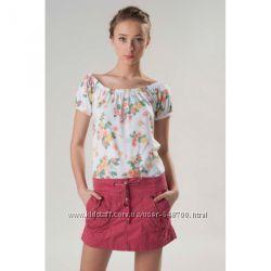 Короткая розовая юбка лето, Bershka