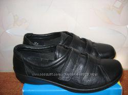 Новые фирменные  кожаные туфли-полуботинки Hotter , р. 38, 5. ,Англия