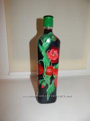 Декоративные бутылки под заказ