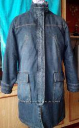 Джинсовое пальто-куртка