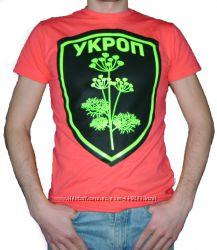 Мужская футболка для патриотов Герб Укроп
