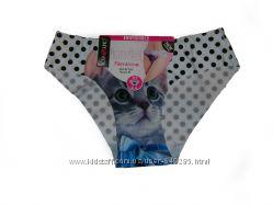 Женские трусики-невидимки Rosa Junio с котом