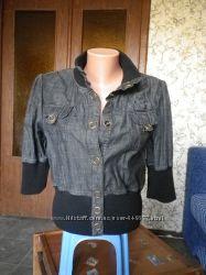 Летняя куртка-пиджак из тонкого джинса NEW LOOK