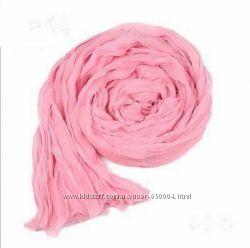 Однотонные женские шифоновые шарфики