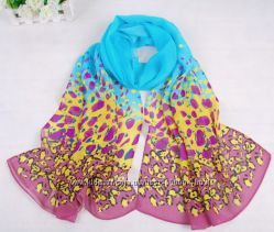 Легкие шифоновые шарфики с разными принтами