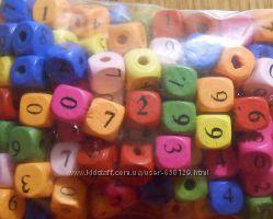 бусины цыфры  кубики, улитки пуговицы деревянные