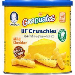 Снеки Gerber, Graduates LilCrunchies, палочки из мягкого чеддера, США