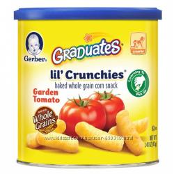 снеки Gerber Graduates Lil Crunchies садовые томаты для малышей умеющих